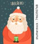 cute santa claus. christmas... | Shutterstock .eps vector #746350768