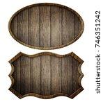 vintage wooden signboard... | Shutterstock . vector #746351242