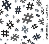 hashtag icon seamless pattern.... | Shutterstock .eps vector #746355916