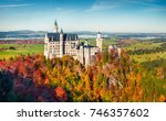 sunny autumn view of... | Shutterstock . vector #746357602