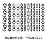 silhouette of different steel... | Shutterstock .eps vector #746360122