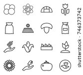 thin line icon set   atom core  ... | Shutterstock .eps vector #746373742