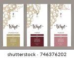 vector set of templates... | Shutterstock .eps vector #746376202