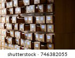 library cabinet.  | Shutterstock . vector #746382055