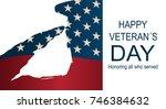 captain saluting for memorial... | Shutterstock .eps vector #746384632