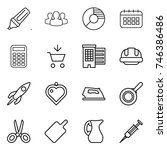 thin line icon set   marker ...