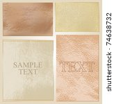 vector leather labels | Shutterstock .eps vector #74638732