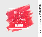 buy 2 get 1 free sale text over ... | Shutterstock .eps vector #746390482