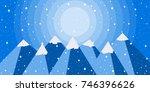 winter mountain landscape is... | Shutterstock .eps vector #746396626