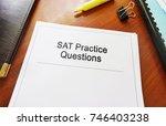 sat practice questions study... | Shutterstock . vector #746403238