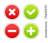 four satined smooth validation...   Shutterstock .eps vector #74640979