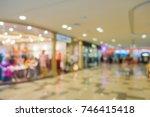 Blur scene inside the shopping malls