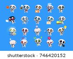 set of cute robots icons... | Shutterstock .eps vector #746420152