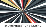 multicolor sunbeams background | Shutterstock .eps vector #746423542