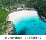 top aerial view from drone of... | Shutterstock . vector #746435542
