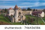carta  romania. the old ruined... | Shutterstock . vector #746436586