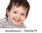 beautiful curly boy portrait | Shutterstock . vector #74643679