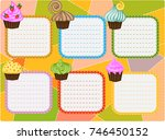 six day timetable on a multi... | Shutterstock .eps vector #746450152