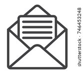 open mail line icon  web and...