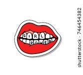 lips  girl power traditional... | Shutterstock .eps vector #746454382
