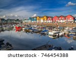 a small and cozy harbor in the...   Shutterstock . vector #746454388