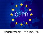 gdpr   general data protection... | Shutterstock .eps vector #746456278