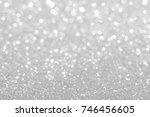 white glitter particles... | Shutterstock . vector #746456605