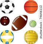 balls collection vector   Shutterstock .eps vector #74646112
