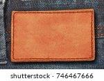 Leather Label On Denim Jean...