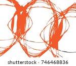vector grunge paint brush.... | Shutterstock .eps vector #746468836