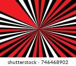 radiating  converging lines ... | Shutterstock .eps vector #746468902
