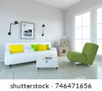 white scandinavian room... | Shutterstock . vector #746471656