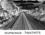abstract image of train tracks... | Shutterstock . vector #746474575