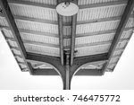 outdoor train bus station roof. ... | Shutterstock . vector #746475772