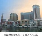 macau  china   sept 2017  the... | Shutterstock . vector #746477866