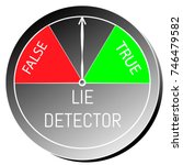polygraph  lie or truth...   Shutterstock .eps vector #746479582