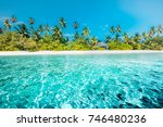 amazing beach vacation for... | Shutterstock . vector #746480236