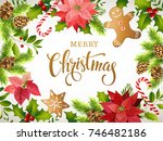 christmas design composition of ... | Shutterstock .eps vector #746482186
