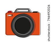 photographic camera icon image | Shutterstock .eps vector #746492026