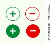 plus and minus round icon set...   Shutterstock .eps vector #746492422