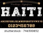 font handcrafted vector named... | Shutterstock .eps vector #746500852