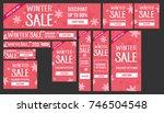 winter sale banners set | Shutterstock .eps vector #746504548