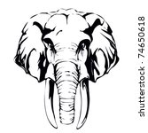 elephant  mammoth  | Shutterstock .eps vector #74650618