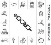 kebab. line food icon set on... | Shutterstock .eps vector #746506312