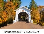 Old White Wooden Covered Bridg...