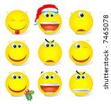 Yellow Vector Smiley Set