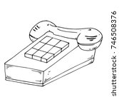 stationary push button phone....   Shutterstock .eps vector #746508376