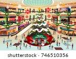 a vector illustration of... | Shutterstock .eps vector #746510356