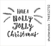 merry christmas and happy new... | Shutterstock .eps vector #746512732