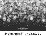 vector falling snow effect with ... | Shutterstock .eps vector #746521816